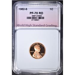 1982-S LINCOLN CENT, WHSG PERFECT GEM PR RED