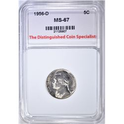 1956-D JEFFERSON NICKEL, TDCS SUPERB GEM BU