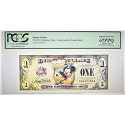 2009 DISNEY DOLLAR PCGS 67 PPQ