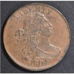 1804 HALF CENT  AU/BU