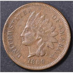 1869 INDIAN CENT  XF