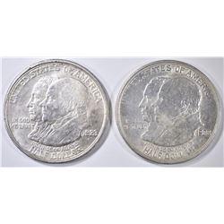 2 1923-S MONROE COMMEM HALVES   AU/BU