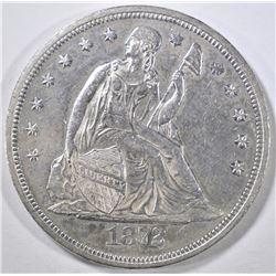1872 SEATED DOLLAR AU/BU