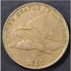 1857 FLYING EAGLE CENT XF/AU