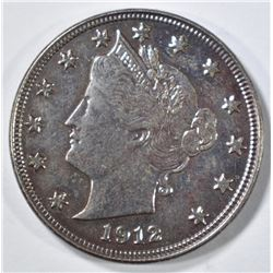 1912-D LIBERTY NICKEL AU ROUGH SURFACES