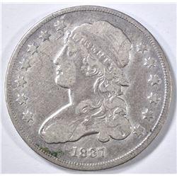 1837 BUST QUARTER VF
