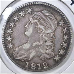 1812 BUST HALF DOLLAR, XF/AU