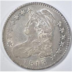 1813 BUST HALF DOLLAR XF/AU