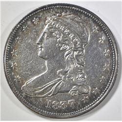 1837 REEDED EDGE BUST HALF DOLLAR BU CLEANED