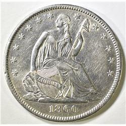 1860-O SEATED LIBERTY HALF DOLLAR BU