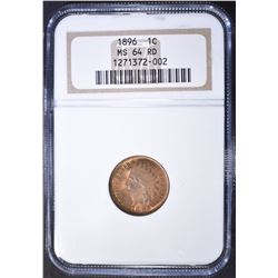 1896 INDIAN CENT  NGC MS-64 RD