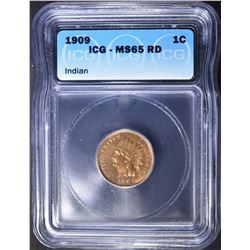 1909 INDIAN CENT  ICG MS-65 RD