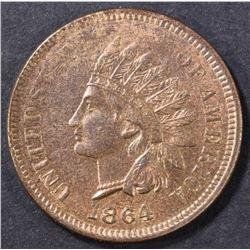 1864 L INDIAN CENT  CH BU RB