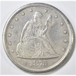 1875-CC 20 CENT PIECE   AU/BU