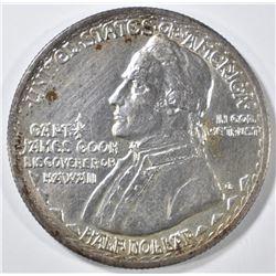 1928 HAWAIIAN COMMEM HALF DOLLAR  AU/BU