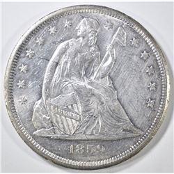 1859-O SEATED LIBERTY DOLLAR   BU