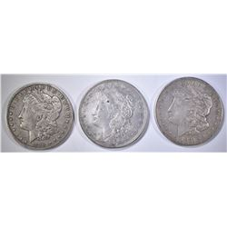 1890-O, 1921 & 21-S MORGAN DOLLARS