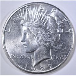 BU 1927 PEACE DOLLAR