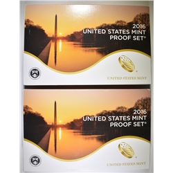 2-2016 U.S. PROOF SETS IN ORIG PACKAGING