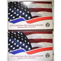 2-2010 U.S. SILVER ATB PROOF QUARTER SETS