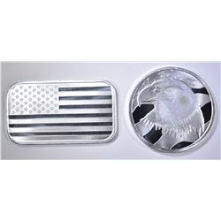 PLEDGE OF ALLEGIANCE & U.S. FLAG 1oz SILVER Pcs
