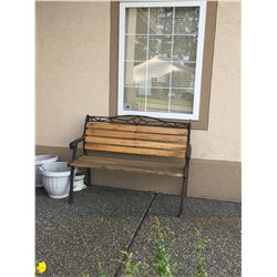 Garden Bench & Pots A