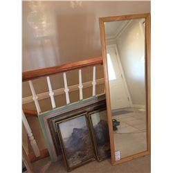 Framed prints & Mirror A