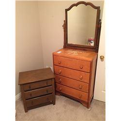 Vintage Dresser & Night Table C