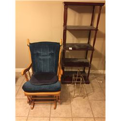 Rocking Chair & Shelving A