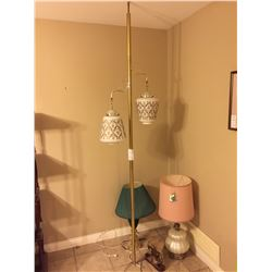 Vintage Pole Lamp & Table Lamps A