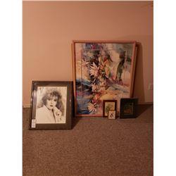Assortment of Framed Art A