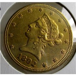 1892 $ 10 Gold Liberty Eagle