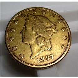 1897 s $ 20 Gold Liberty Double Eagle