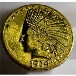 1914 D $ 10 Gold  Indian Eagle