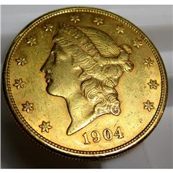 1904 s $ 20 Gold Liberty Double Eagle