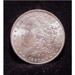 1887 Unc Morgan Silver Dollar