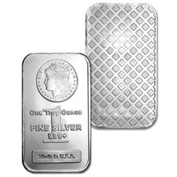 1 oz. Silver Bar w/ Morgan Design .999 pure