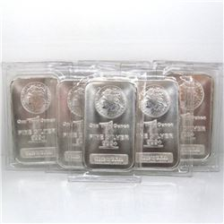 10 pcs. Morgan Design Silver 1 oz. Bars