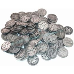 50 pcs. Mercury Dimes - $5 Face Value 90%