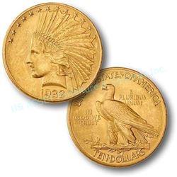 1932 $10 Gold Indian AU Grade