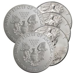 5 pcs. US Silver Eagles - Random Dates