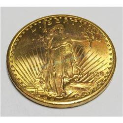 1928 AU Grade $20 Gold Saint Gaudens