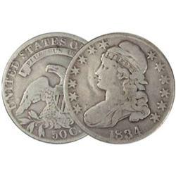 1834 Bust Half Dollar VG Plus Grade
