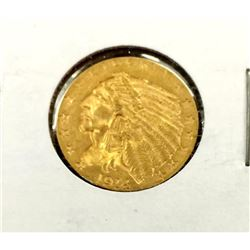1914 $2.5 Gold Indian in 2x2 XF/AU Grade