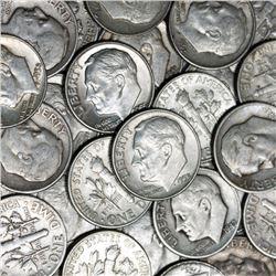 100 pcs. Roosevelt Dimes -90% Silver