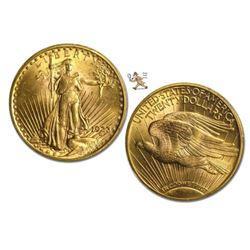 1923 $20 Gold Saint Gaudens AU Plus Grade