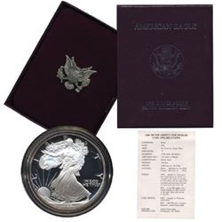 1986 PROOF US Silver Eagle in OMB