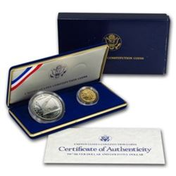 1987 US Constitution 2 coin GOLD Proof Set