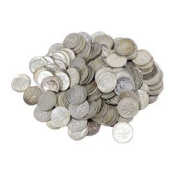 100 pcs. Roosevelt Dimes 90% Silver