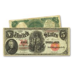 "1907 $5 ""Woodchopper"" G-VG US Note"